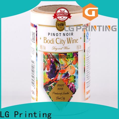 LG Printing foil business water bottle labels for jars