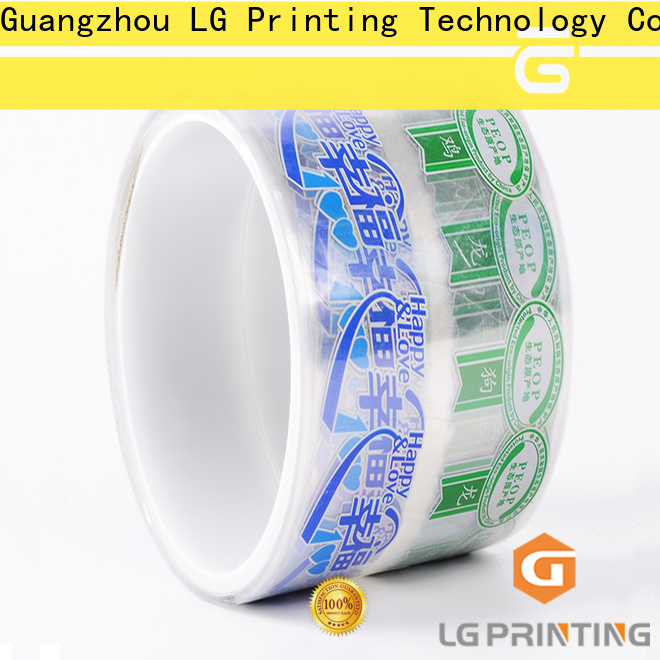 LG Printing bopp plastic water bottle labels factory price for cans