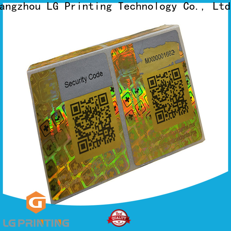 LG Printing Best double layer label sticker factory for cosmetics