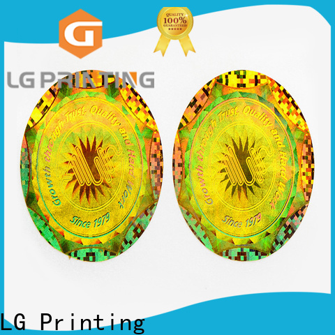 LG Printing printing clear holographic sticker paper factory price for garment hangtag