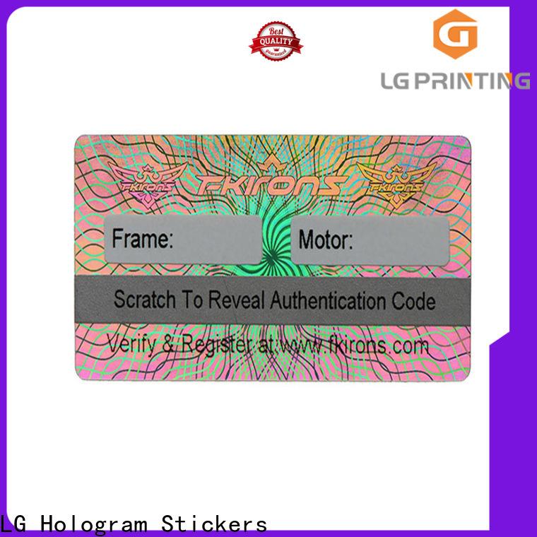 LG Printing time round hologram stickers vendor for cosmetics