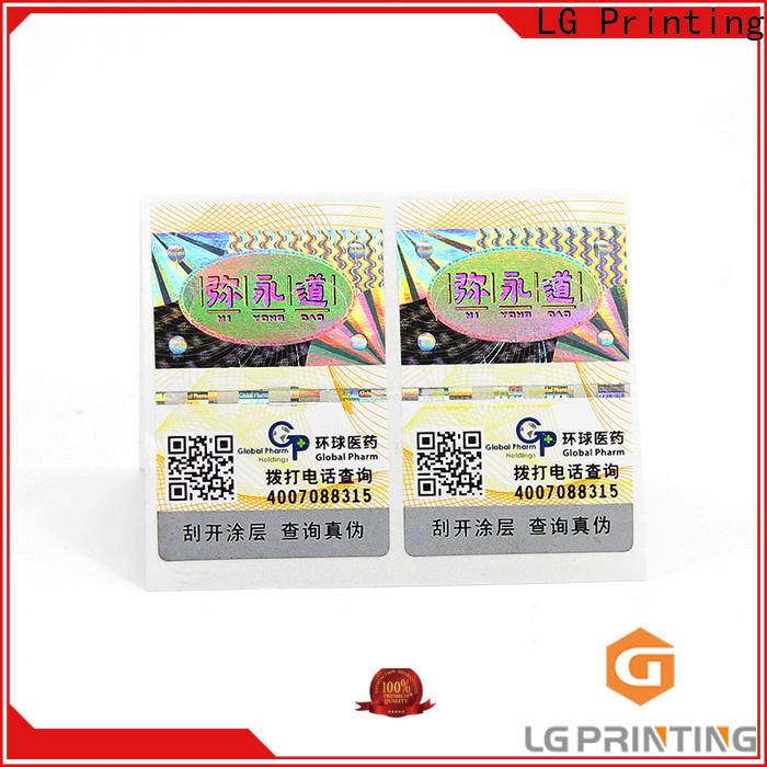 LG Printing Bulk custom sticker labels for bottles factory for box