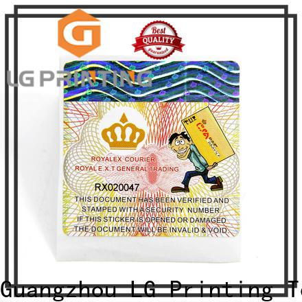 LG Printing Customized printed self adhesive labels manufacturer price