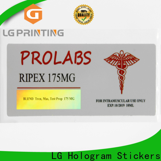 LG Printing holographic alien sticker for plastic box surface