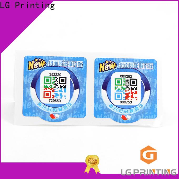 LG Printing Custom made hologram labels uk factory price for goods