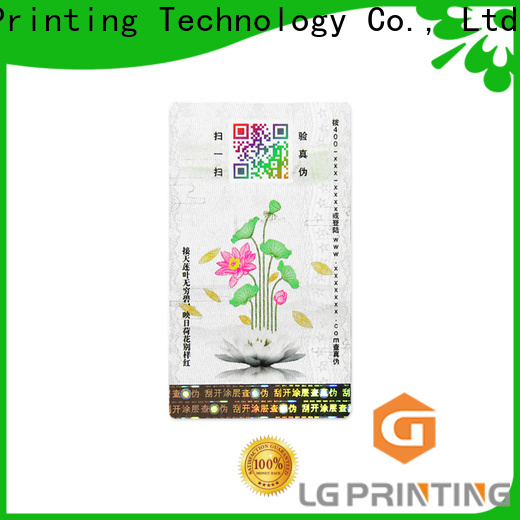 LG Printing Bulk buy custom printed roll labels supply for goods