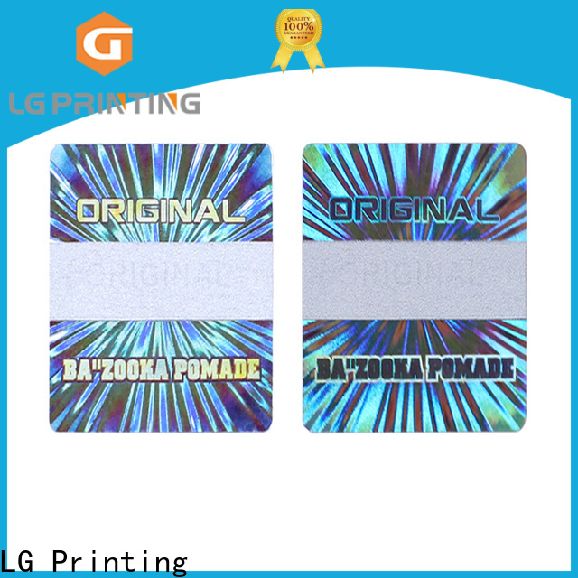 LG Printing numbering hologram stickers price wholesale for garment hangtag