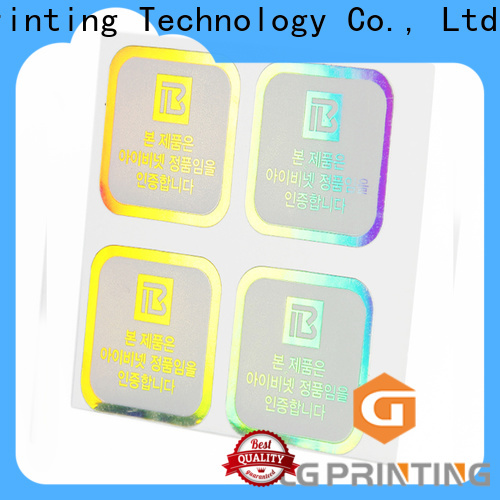 LG Printing holographic sticky back paper factory price for plastic box surface