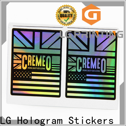 LG Printing holographic letter stickers suppliers for plastic box surface