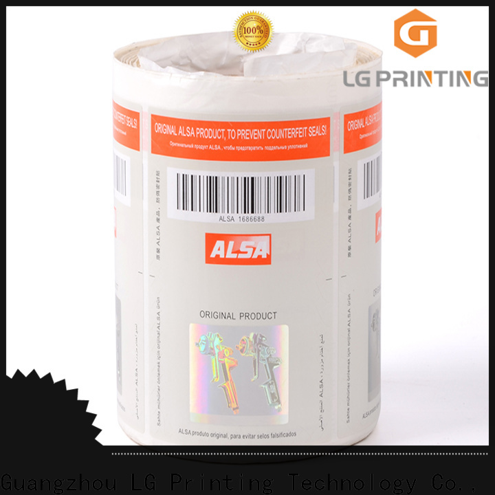 Quality holographic foil label company for goods