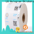 Top custom size sticker labels number cost for bag