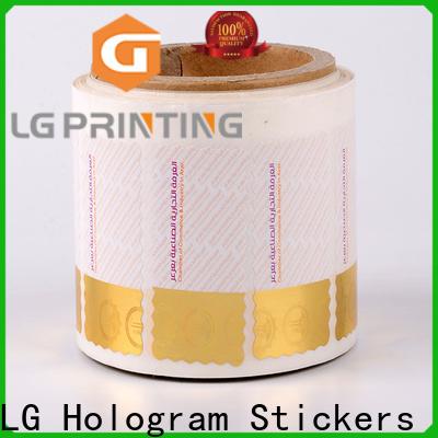 LG Printing Professional security hologram printing foil label vendor for products