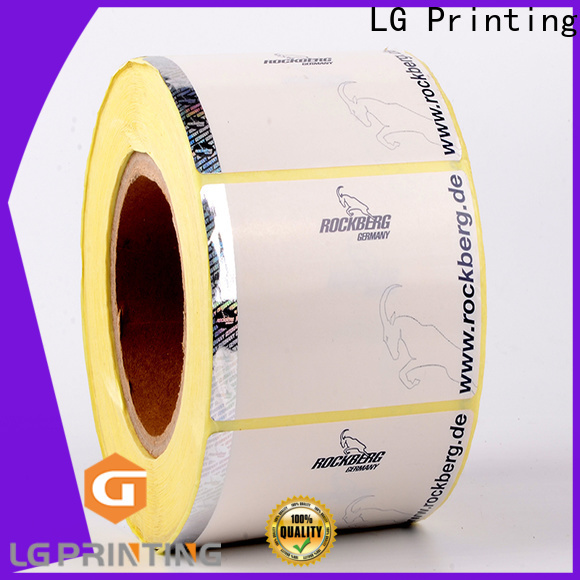 LG Printing PP custom holographic labels price for bag
