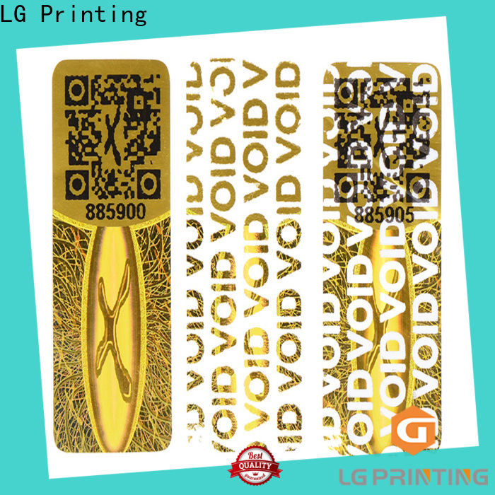 LG Printing scratch off hologram security stickers manufacturers for skin care products