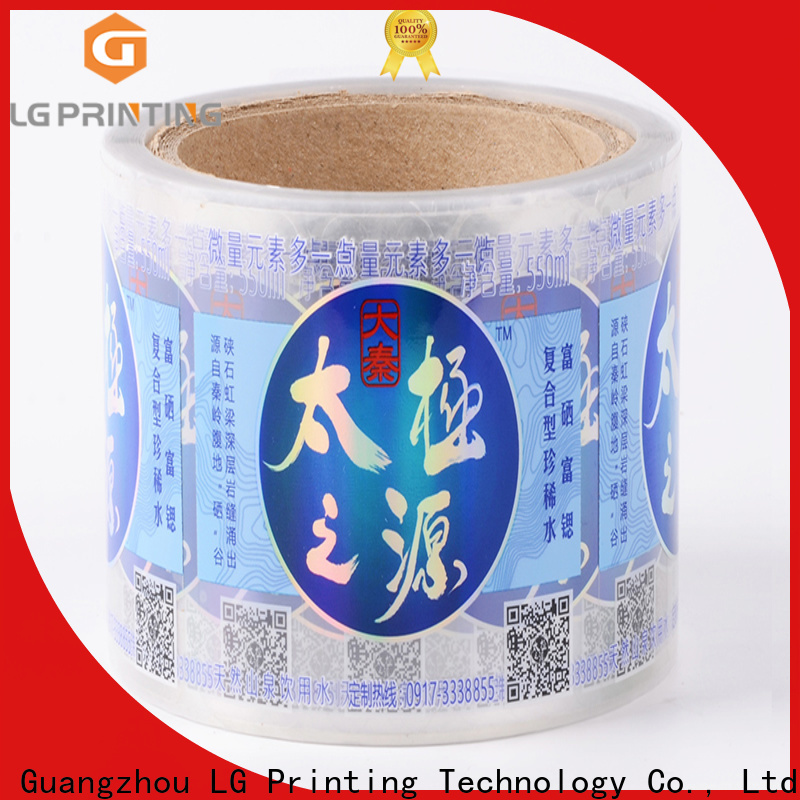 LG Printing Customized best water bottle labels wholesale for cans