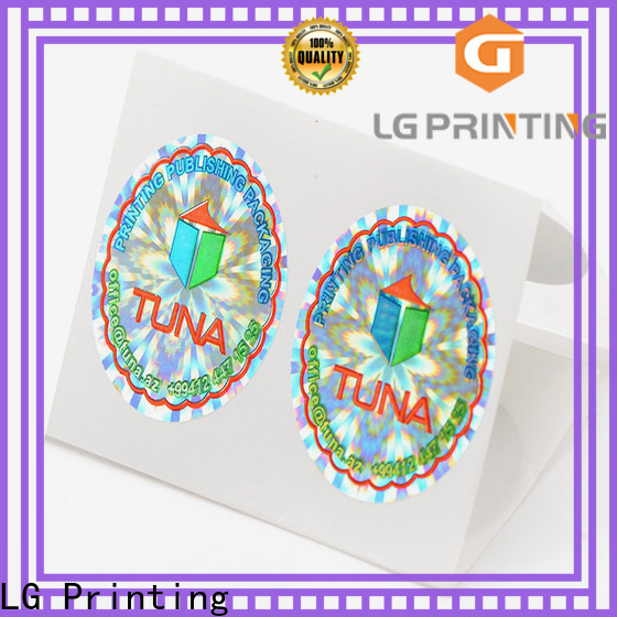 LG Printing silver design hologram sticker factory price for pharmaceuticals