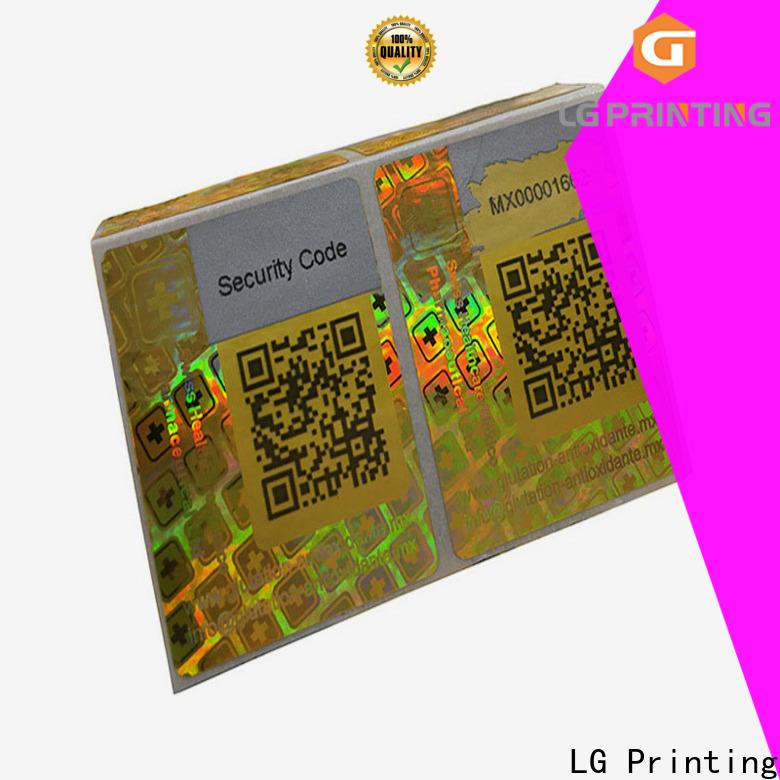 LG Printing transparent hologram sticker manufacturers for electronics