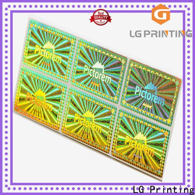 LG Printing void seal price for garment hangtag