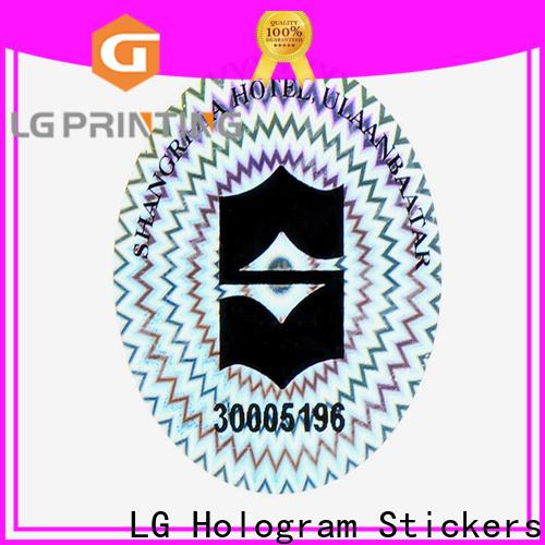 LG Printing Customized custom hologram manufacturers for garment hangtag