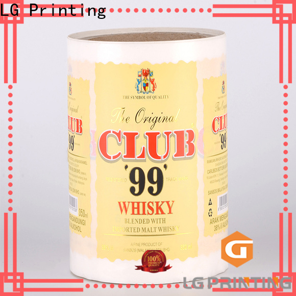 LG Printing Professional wine bottle label maker cost for wine bottle