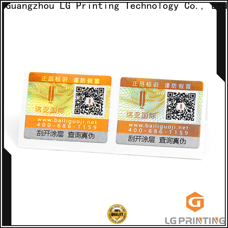 LG Printing adhesive labels for plastic bottles factory for products