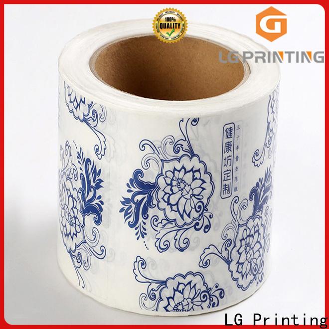 LG Printing self adhesive printed labels factory for jars