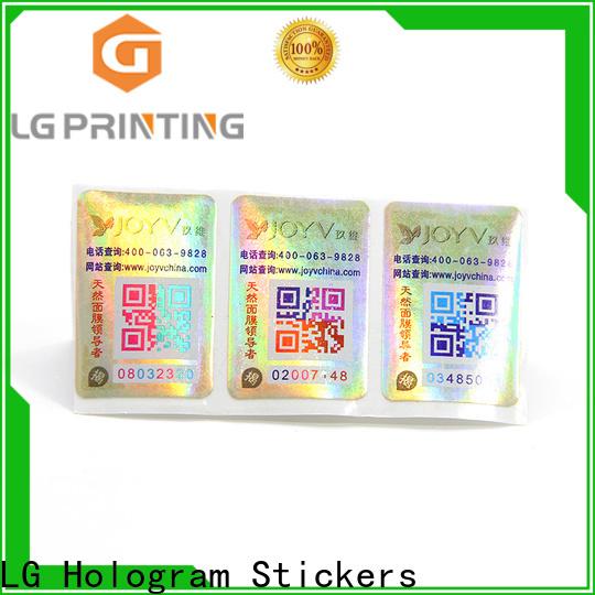 LG Printing Custom label security manufacturers