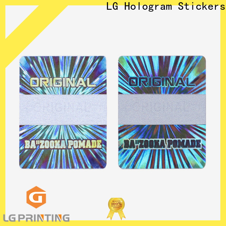 LG Printing High-quality hologram sticker machine suppliers for skin care products