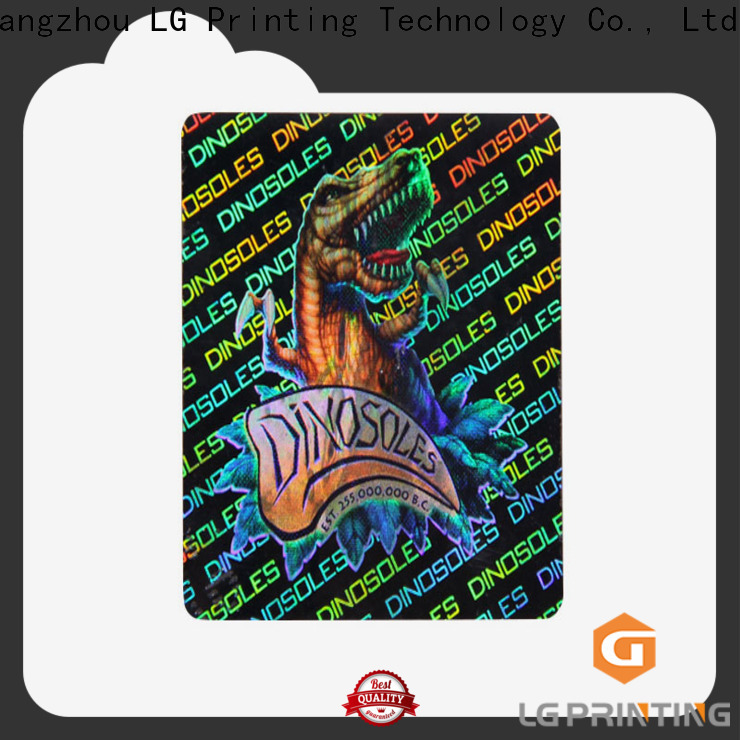 Customized custom holographic labels scratch off suppliers for garment hangtag