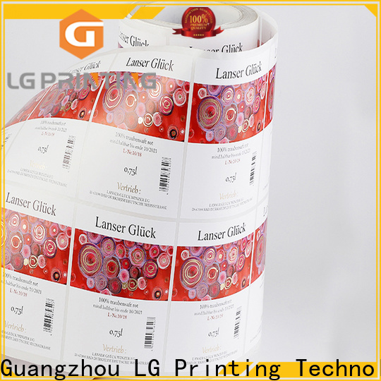 LG Printing red paper packaging box for jars