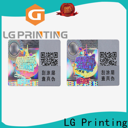 Customized holographic sticker maker silver factory for pharmaceuticals