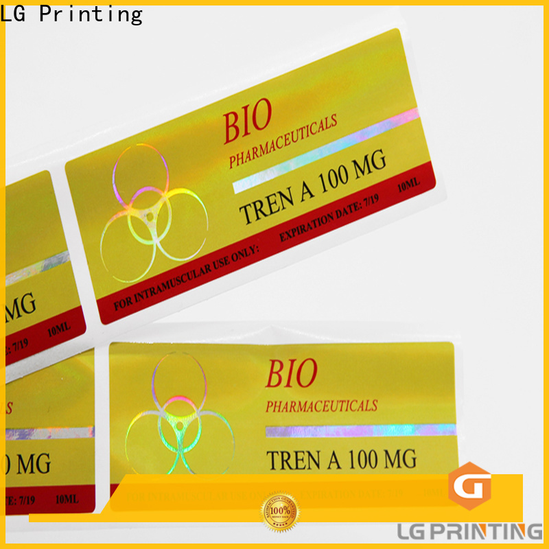 LG Printing Custom made custom holographic decals company for plastic box surface