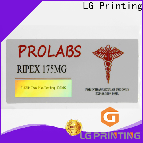 LG Printing holographic product labels suppliers for package