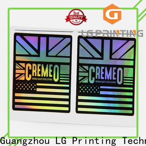 LG Printing cheap holographic stickers company for package