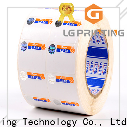 LG Printing Bulk security hologram stickers labels for products
