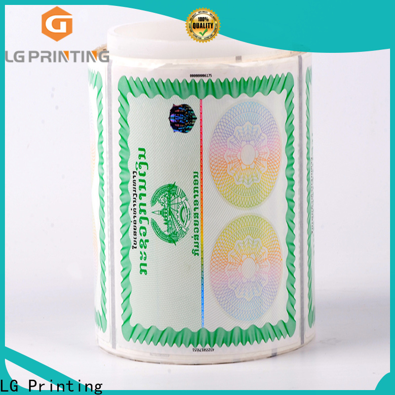 LG Printing Professional holographic stamp for goods