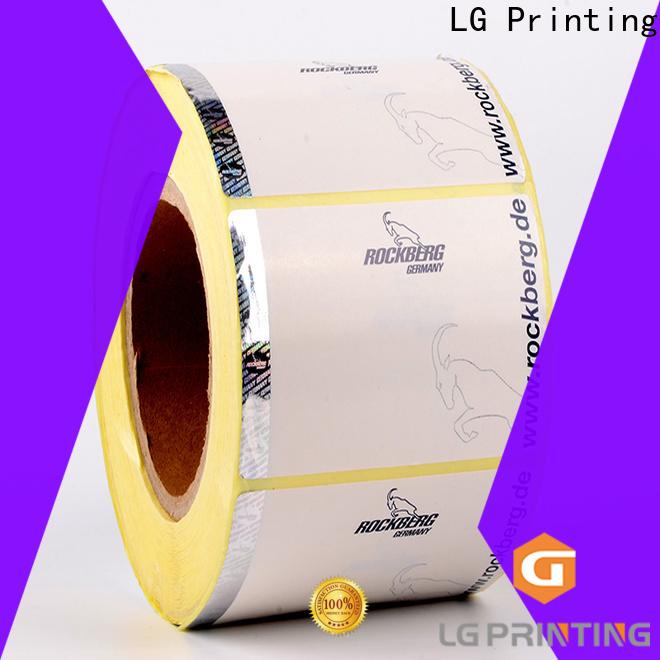 LG Printing UV hologram seal sticker wholesale for box
