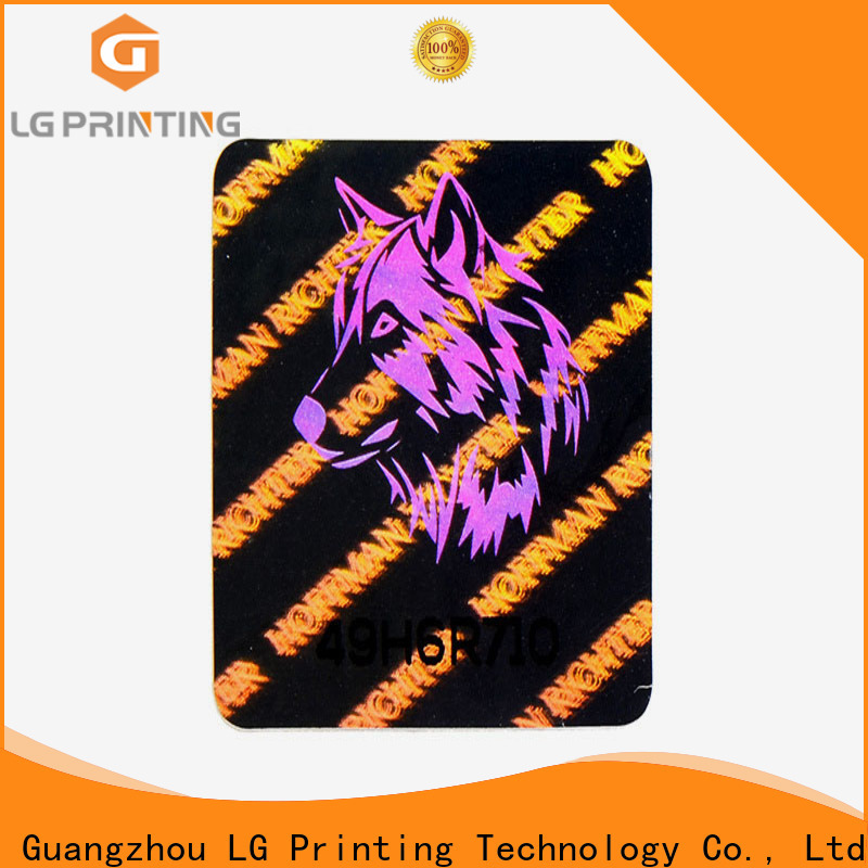 LG Printing logo genuine hologram stickers vendor for pharmaceuticals