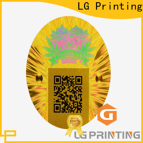 LG Printing gold custom 3d hologram stickers manufacturers for skin care products