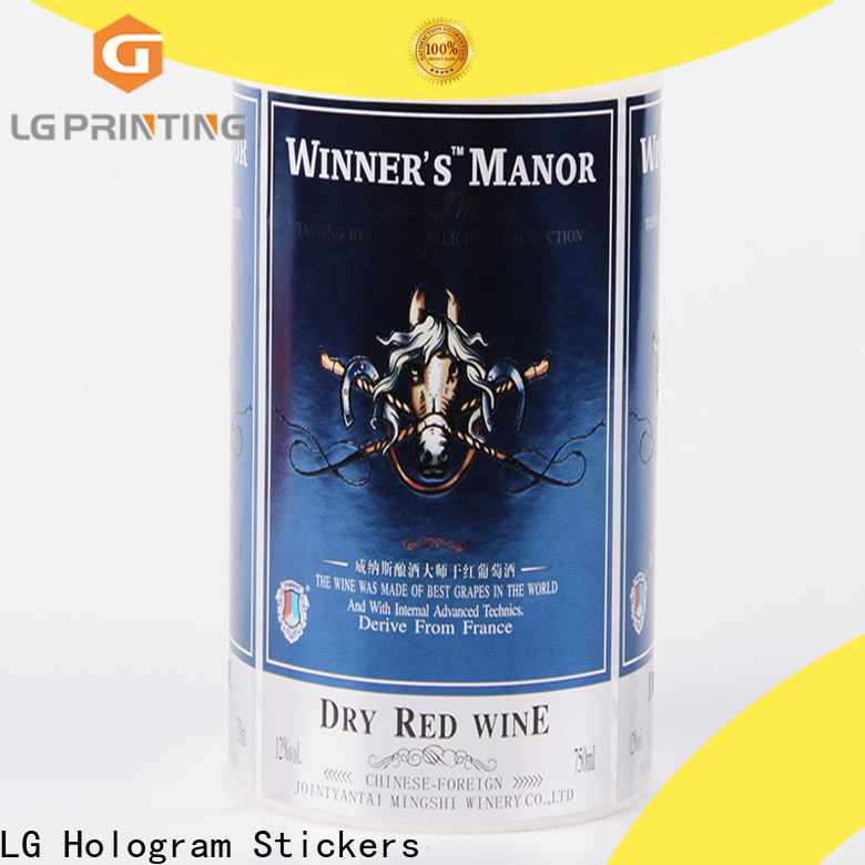 Custom paper label stickers gold price for cans