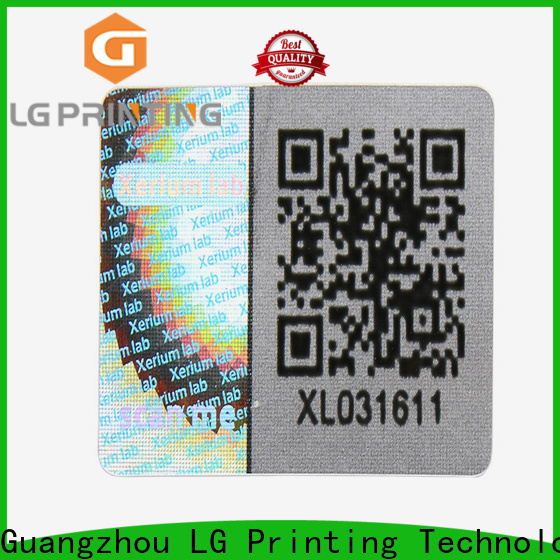 LG Printing scratch off authentic hologram stickers factory for pharmaceuticals