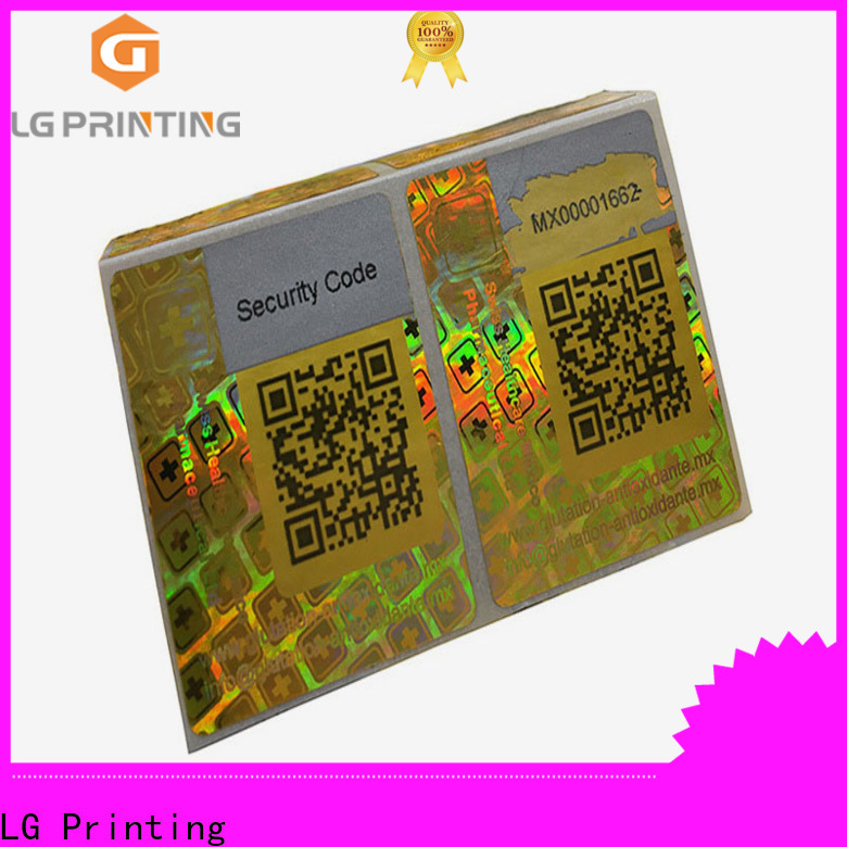 LG Printing barcode fake hologram sticker for skin care products