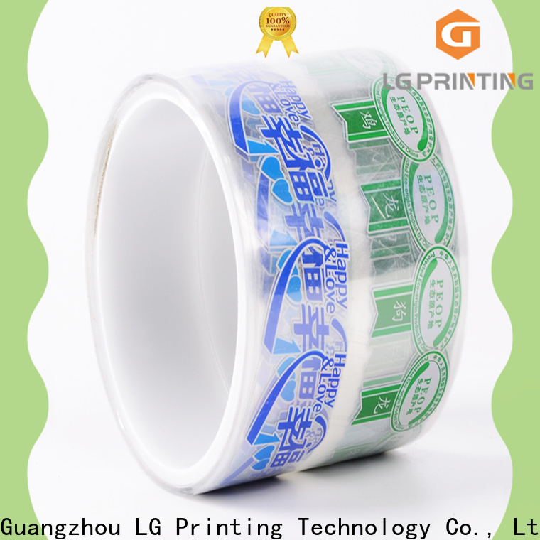 LG Printing Customized vinyl adhesive labels supply for wine bottle