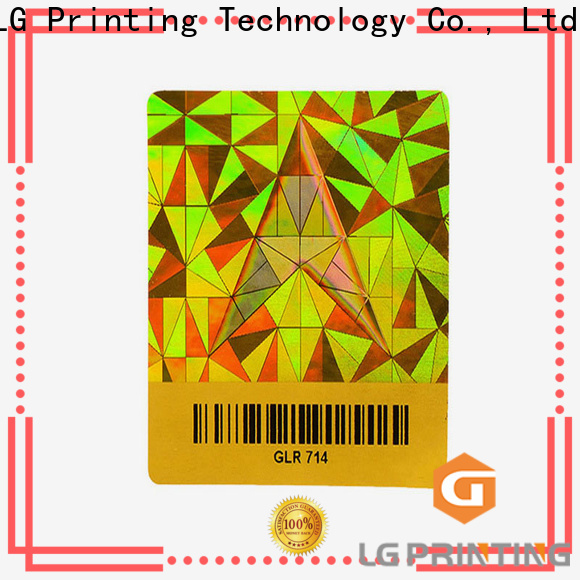 LG Printing security create your own hologram stickers manufacturers for electronics