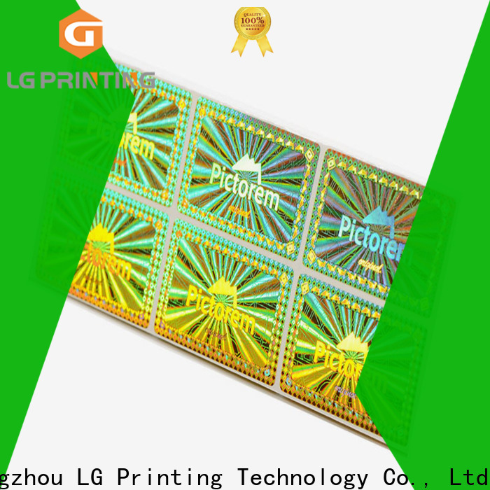 LG Printing gold making hologram stickers manufacturers for cosmetics