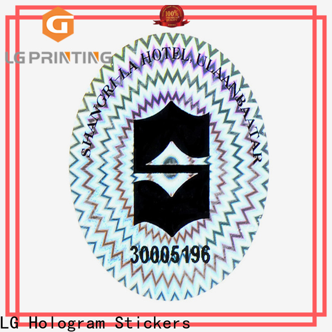 LG Printing authentic printing hologram stickers wholesale for electronics