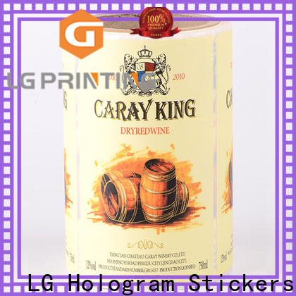 LG Printing red adhesive sticker supply for cans