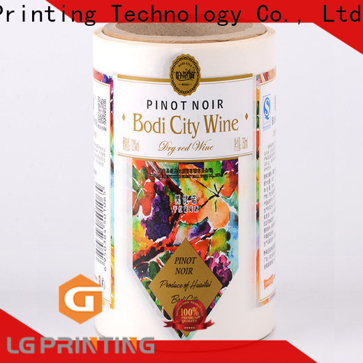 Custom adhesive label printing foil cost for cans