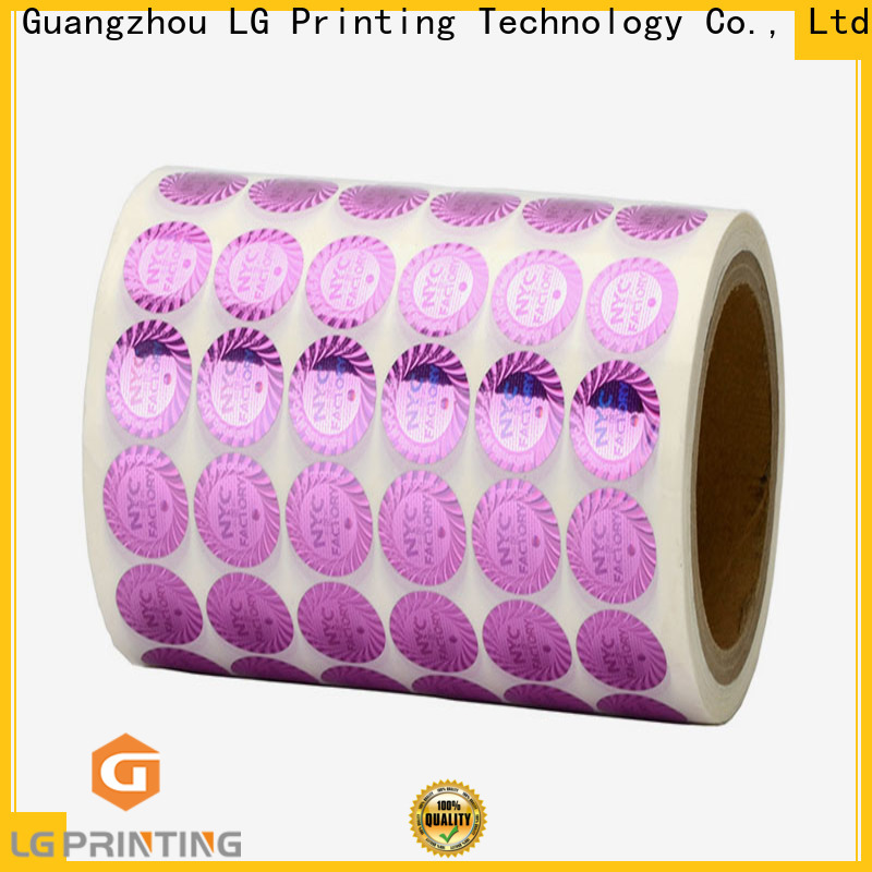 LG Printing Customized holo stickers company for pharmaceuticals