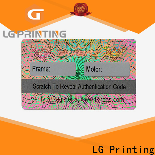 Professional cheap hologram stickers holographic supply for electronics
